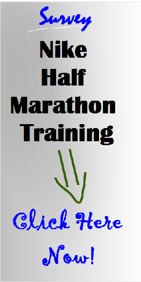 Nike half marathon training survey